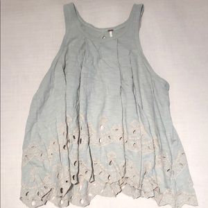 free people mint + pink top